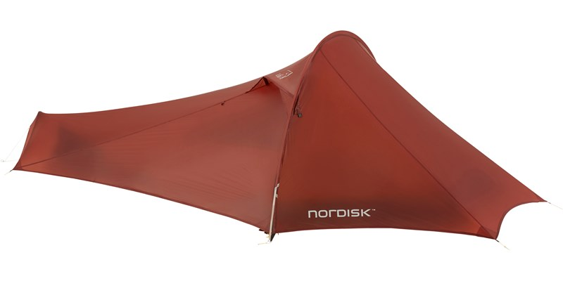 lofoten 2 ulw 151021 nordisk extreme lightweight two man tent burnt red closed 2
