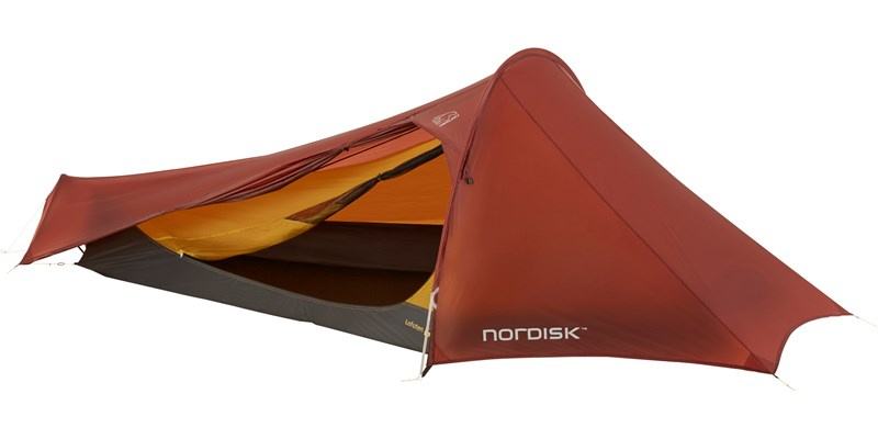 lofoten 2 ulw 151021 nordisk extreme lightweight two man tent burnt red open 3