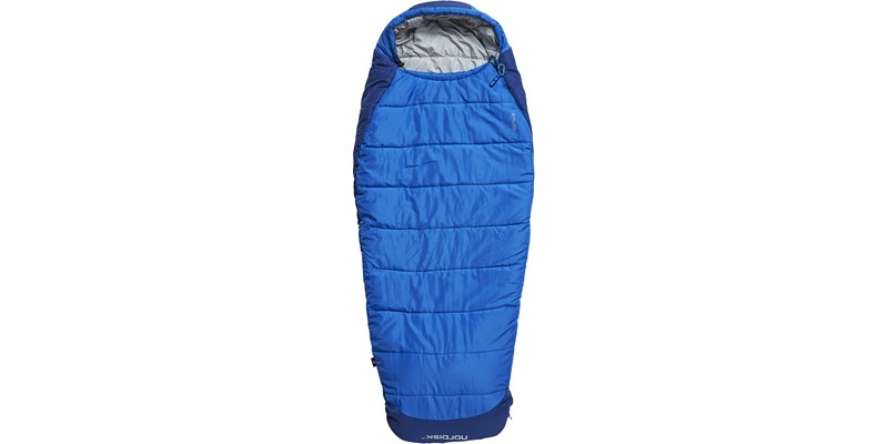 knuth plus 5 110436 nordisk junior sleeping bag limoges blue front short