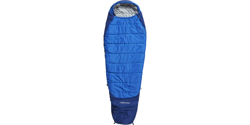 knuth plus 5 110436 nordisk junior sleeping bag limoges blue front long
