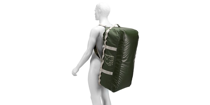skara size l 133088 nordisk gear bag 100 litres forest green 24