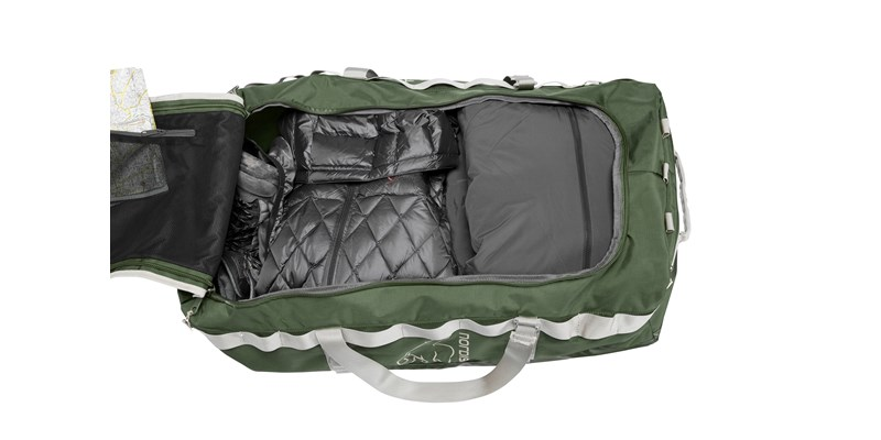 skara size l 133088 nordisk gear bag 100 litres forest green 01
