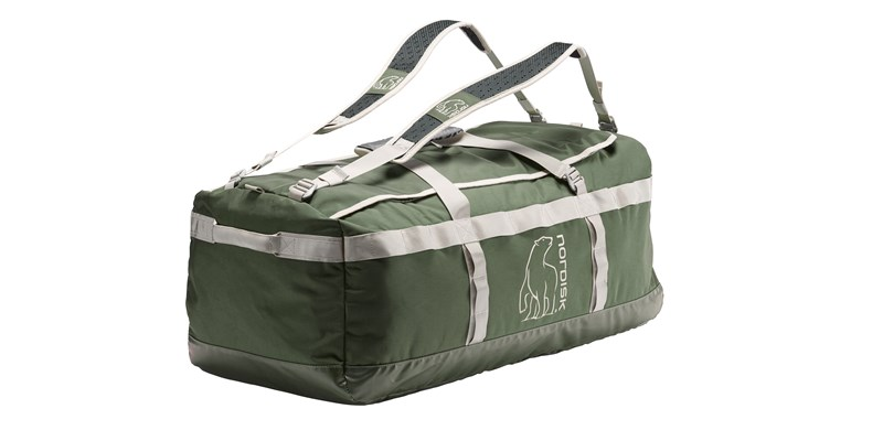 skara size l 133088 nordisk gear bag 100 litres forest green 09
