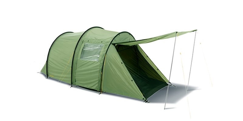 reisa 4 pu 122030 nordisk classic tunnel four man tent dusty green 1