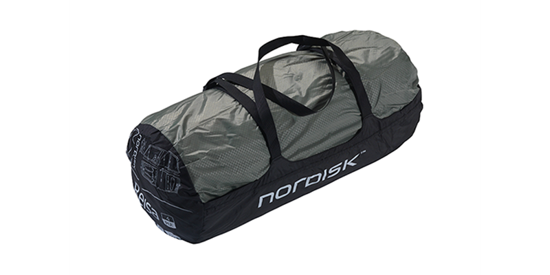 reisa 4 pu 122030 nordisk classic tunnel four man tent dusty green packsack 1