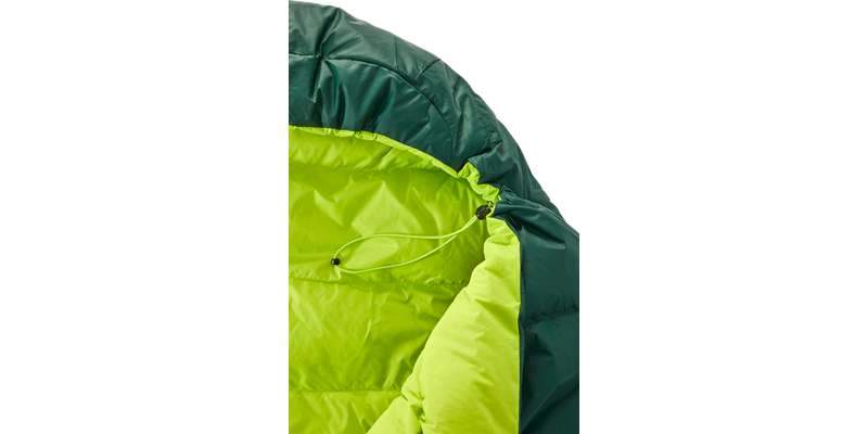 tension mummy 500 zip right 84120 84130 nordisk down sleeping bag scarab lime 03_low res