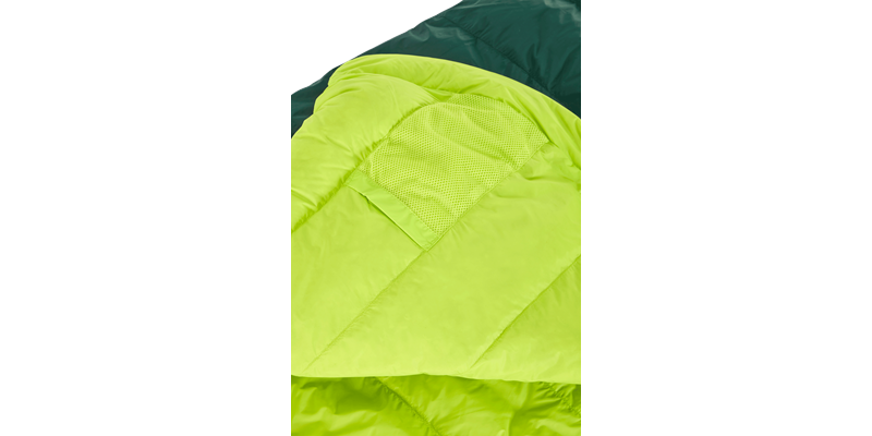 tension mummy 500 zip right 84120 84130 nordisk down sleeping bag scarab lime 06_low res