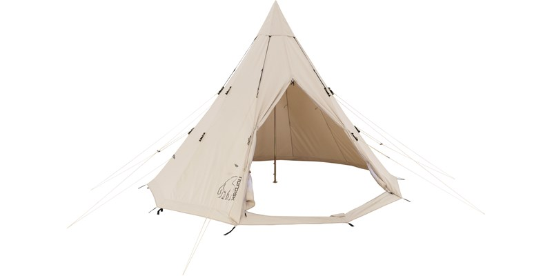 alfheim 12 6 m2 142013 nordisk classic retro tepee tent technical cotton front open