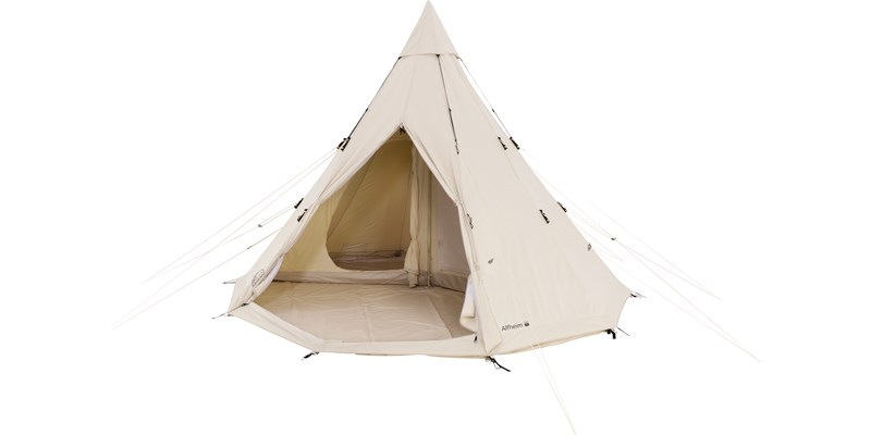 alfheim 19 6 m2 142014 nordisk classic retro tepee tent technical cotton floor cabins front open