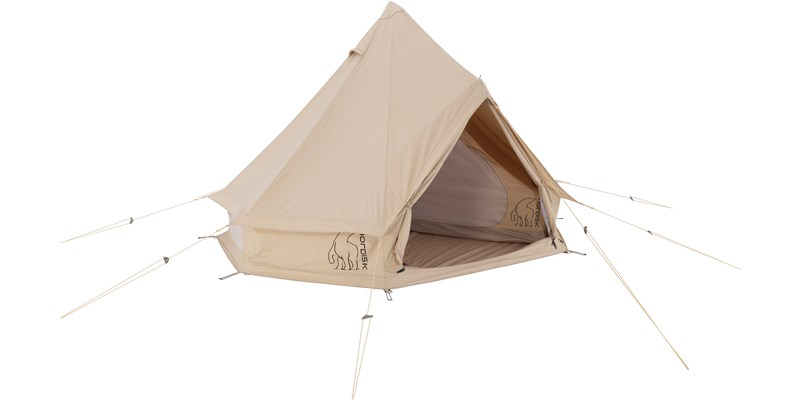 asgard 7 1 m2 142012 nordisk classic retro bell tent technical cotton with a sewn in floor cabin front left open