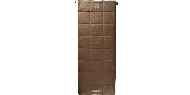 almond plus 10 141004 nordisk rectangular shape sleeping bag bungy cord brown front