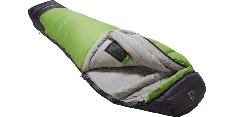 celsius minus 18 110210l nordisk mummy shape sleeping bag peridot green slanted open
