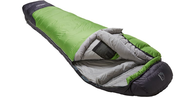 celsius minus 10 110207l nordisk mummy shape sleeping bag peridot green slanted open