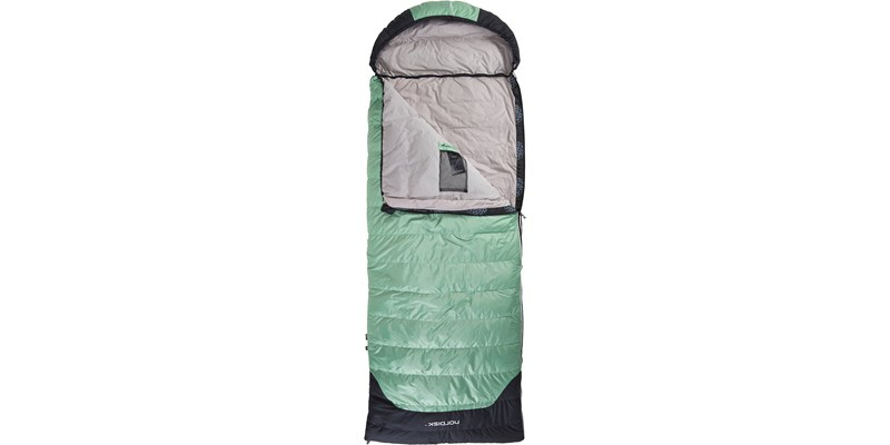selma 0 110219l nordisk rectangular shape sleeping bag mineral green front open top