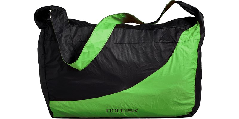 malmoe 133083 nordisk extreme packable shopping bag 25 litres green black front