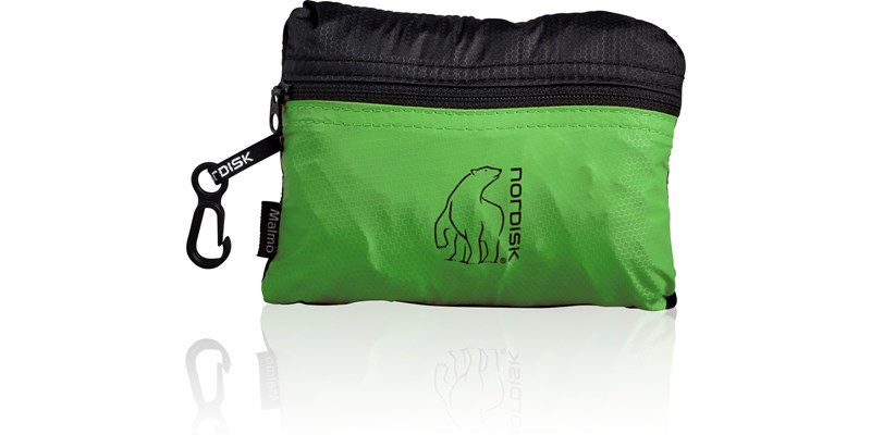 malmoe 133083 nordisk extreme packable shopping bag 25 litres green black packsack 1