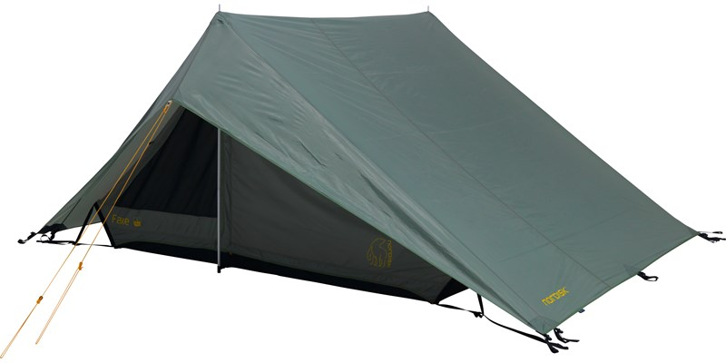 faxe 3 pu 122028 nordisk classic asymmetric three man tent dusty green front left