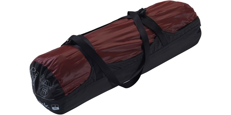 finnmark 2 si 112029 nordisk classic tunnel two man tent burnt red packsack