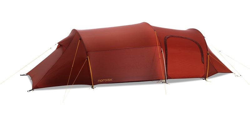 oppland 3 lw 151014 nordisk extreme lightweight three man tent burnt red side