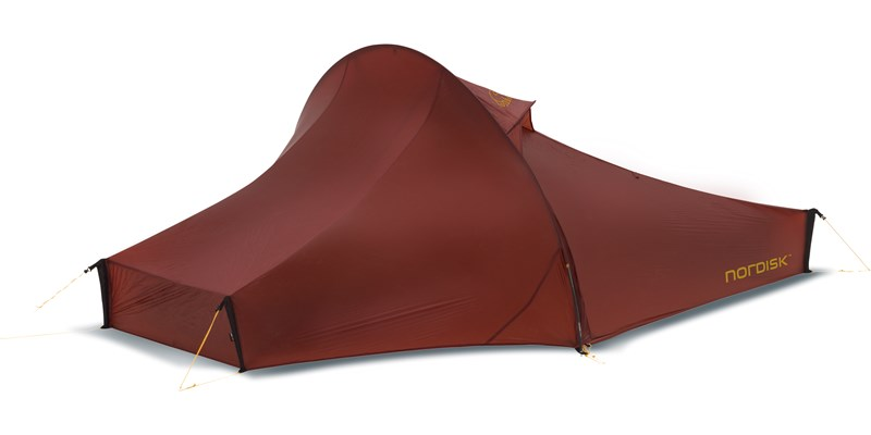telemark 2 ulw 151007 nordisk ultra lightweight one man tent burnt red front right