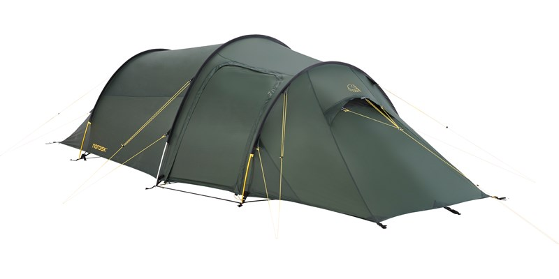oppland 2 si 112032 nordisk classic tunnel two man tent forest green front left